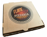Flame pizza box