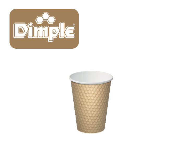 brown dimple paper hot cups