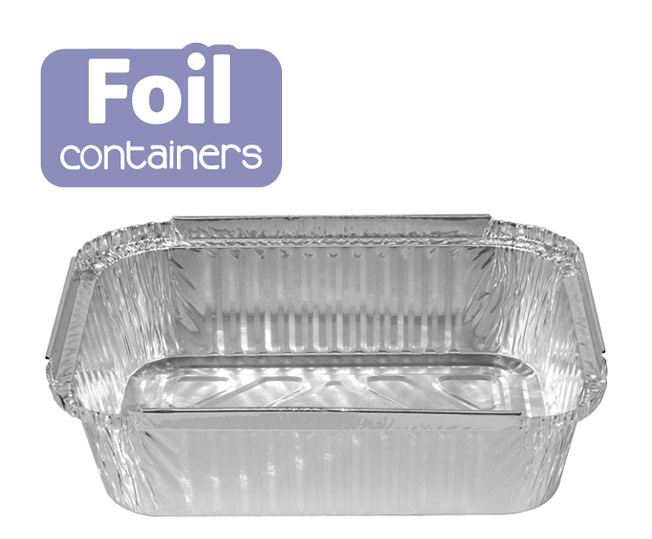 foil medium rectangular take away containers
